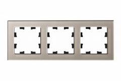 Schneider Electric ATLASDESIGN NATURE 3-постовая РАМКА, ОРГАНИЧЕСКОЕ СТЕКЛО ШАМПАНЬ