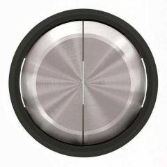 Лицевая панель ABB Sky Moon выключателя двухклавишного cтекло чёрное 2CLA861100A1501