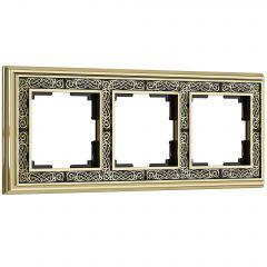 Werkel Рамка на 3 поста (золото/черный) W0031430