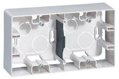 Коробка для накладного монтажа 2-постовая Legrand Etika белая 672530