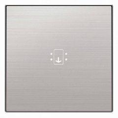 Лицевая панель ABB Sky выключателя карточного с подсветкой нержавеющая сталь 2CLA851400A1401