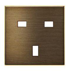 Лицевая панель ABB Sky розетки GB античная латунь 2CLA853700A1201