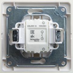 Schneider Electric GLOSSA 1-клавишный ВЫКЛЮЧАТЕЛЬ, сх.1, 10АХ, в сборе, ПЕРЛАМУТР