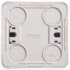 Выключатель Schneider Electric ЭТЮД 2х-клав. О/У 10АX/250B КРЕМОВЫЙ