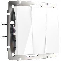 Werkel Выключатель трехклавишный (белый) W1130001
