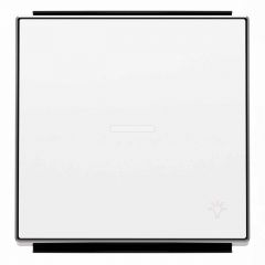 Лицевая панель ABB Sky выключателя одноклавишного с подсветкой Свет альпийский белый 2CLA850440A1101