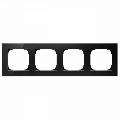 Рамка 4-постовая ABB Sky стекло чёрное 2CLA857400A3101