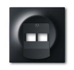 Лицевая панель ABB Impuls розетки 2хUAE чёрный бархат 2CKA001753A0161