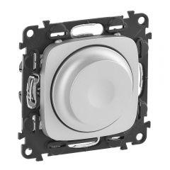 Светорегулятор Legrand Valena Allure поворотный без нейтрали алюминий 752960