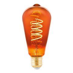 Лампа светодиодная Eglo E27 4W 2000K медная 11885