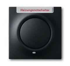Лицевая панель ABB Impuls выключателя одноклавишного с подсветкой маркировкой HNS чёрный бархат 2CKA001753A0154