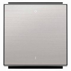 Лицевая панель ABB Sky выключателя одноклавишного с символом I/O нержавеющая сталь 2CLA850120A1401