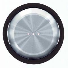 Лицевая панель ABB Sky Moon выключателя одноклавишного с подсветкой cтекло чёрное 2CLA860130A1501