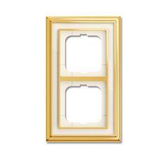 Рамка 2-постовая ABB Dynasty латунь полированная/белое стекло 2CKA001754A4561