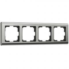Werkel Рамка на 4 поста (глянцевый никель) W0041602