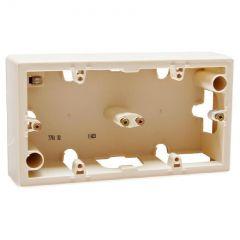 Коробка накладного монтажа 2-постовая Legrand Galea Valena слоновая кость 776132
