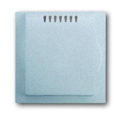 Лицевая панель ABB Impuls усилителя мощности терморегулятора серебристо-алюминиевый 2CKA006599A2919