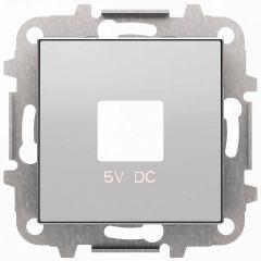 Лицевая панель ABB Sky розетки USB серебристый алюминий 2CLA858500A1301