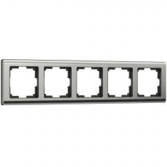 Werkel Рамка на 5 постов (глянцевый никель) W0051602