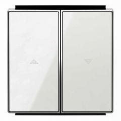 Лицевая панель ABB Sky выключателя жалюзи стекло белое 2CLA854400A2101