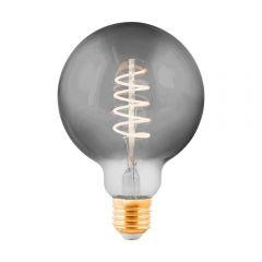 Лампа светодиодная Eglo E27 4W 2000K дымчатая 11872