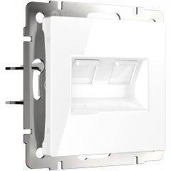 Werkel Розетка двойная Ethernet RJ-45 (белая) W1181101