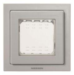Рамка монтажная ITA 1-постовая ABB Zenit IP55 серый N3271 GR