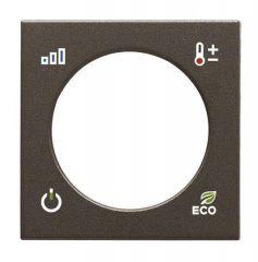 Лицевая панель ABB Zenit терморегулятора KNX антрацит N2240.4 AN
