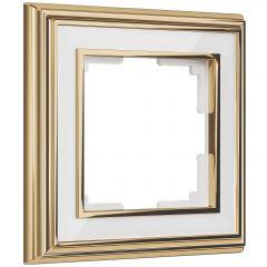 Werkel Рамка на 1 пост (золото/белый) W0011329