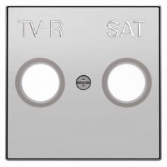Лицевая панель ABB Sky розетки TV-R-SAT серебристый алюминий 2CLA855010A1301