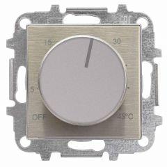 Лицевая панель ABB Sky терморегулятора нержавеющая сталь 2CLA854090A1401