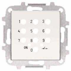 Лицевая панель ABB Sky выключателя с кодовой клавиатурой альпийский белый 2CLA855350A1101