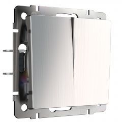 Werkel Выключатель двухклавишный (глянцевый никель) W1120002