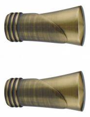 Эскар Набор из 2 наконечников для карнизов Конус текстурный