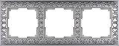 Werkel Рамка на 3 поста (матовый хром) WL07-Frame-03