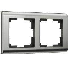 Werkel Рамка на 2 поста (глянцевый никель) W0021602
