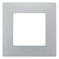Рамка 1-постовая Legrand Etika алюминий 672551