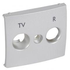 Лицевая панель Legrand Valena розетки TV-FM алюминий 770265