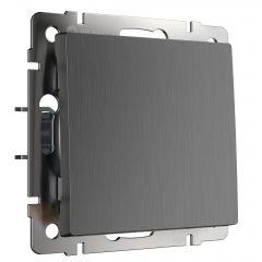 Werkel Выключатель одноклавишный проходной (графит рифленый) W1112004