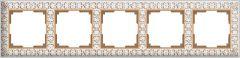 Werkel Рамка Antik на 5 постов (белое золото) WL07-Frame-05