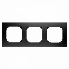 Рамка 3-постовая ABB Sky чёрный бархат 2CLA857300A1501
