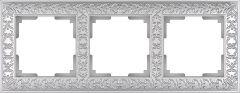 Werkel Рамка Antik на 3 поста (жемчужный) WL07-Frame-03
