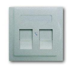 Лицевая панель ABB Impuls розетки коммуникационной c полем для надписи серебристо-алюминиевый 2CKA001753A0082