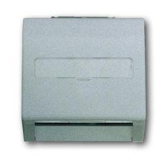 Лицевая панель ABB Impuls розетки коммуникационной c полем для надписи серебристо-алюминиевый 2CKA001753A0054