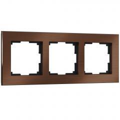 Werkel Рамка на 3 поста (коричневый алюминий) W0031714