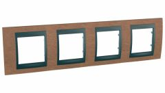 Schneider Electric UNICA TOP РАМКА 4-постовая, горизонтальная, ГРАФИТ/ВИШНЯ