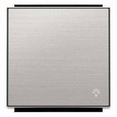 Лицевая панель ABB Sky выключателя одноклавишного Свет нержавеющая сталь 2CLA850420A1401