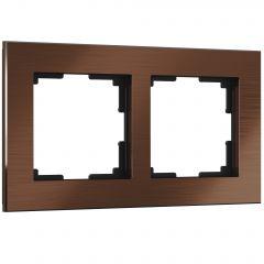 Werkel Рамка на 2 поста (коричневый алюминий) W0021714