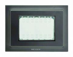 Рамка монтажная ITA 3-модульная ABB Zenit IP55 антрацит N3373 AN