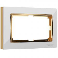 Werkel Рамка для двойной розетки (белый/золото) W0081933